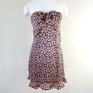 NWT Lulu's sweetheart neckline strapless minidress